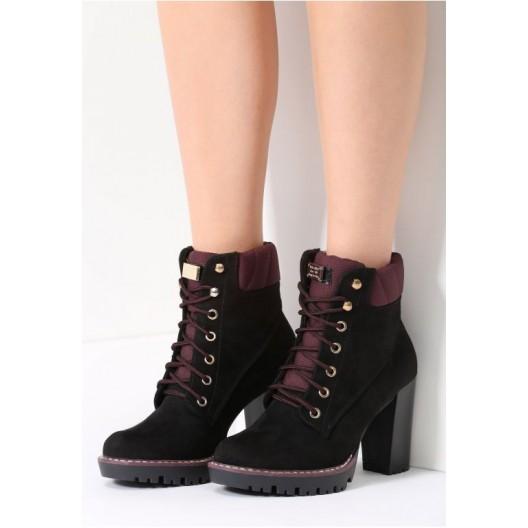 Čierne dámske topánky na podpätku