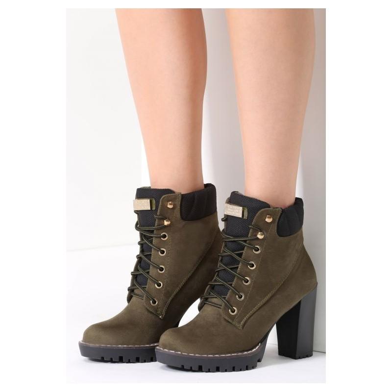 8e8a307078 Predchádzajúci. Dámske zimné šnurovacie topánky zelenej farby ...