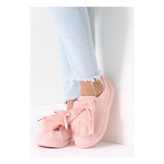 Športová dámska obuv v ružovej farbe