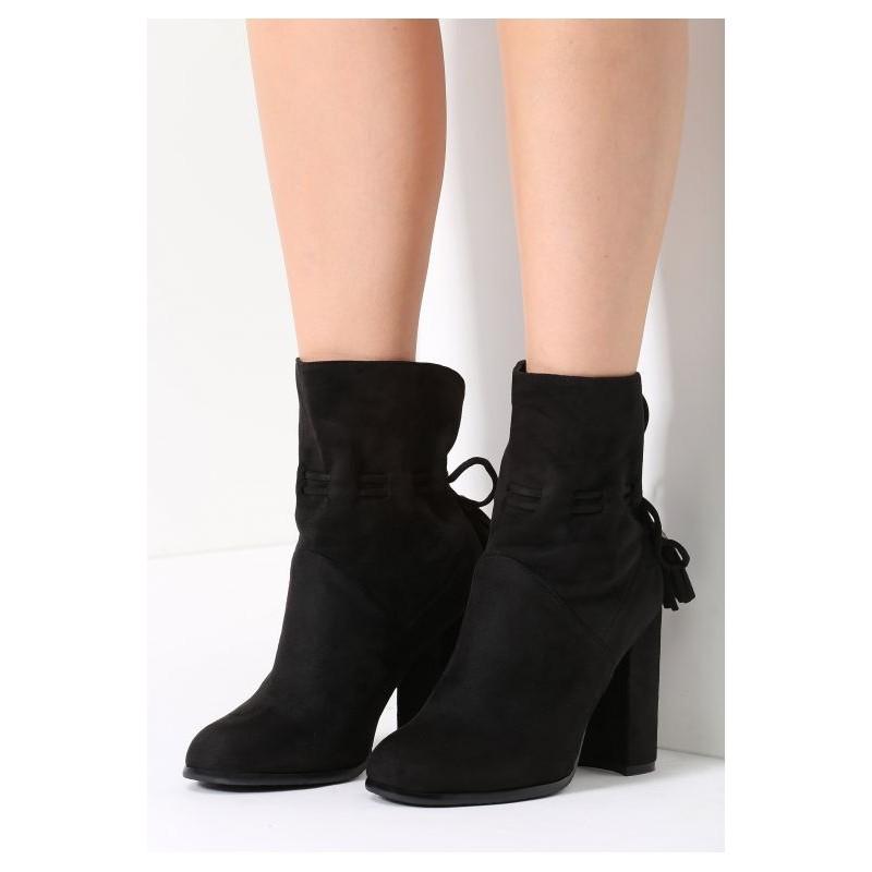 34119ee3f51da Predchádzajúci. Dámske topánky na hrubom opätku čiernej farby ...