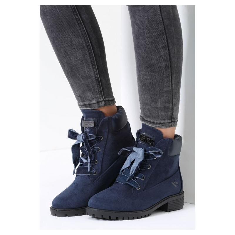 b648e54a22399 Tmavo modré dámske worker topánky - fashionday.eu