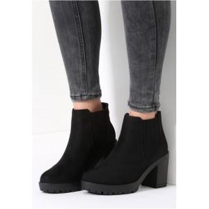 Elegantné dámske topánky na zimu čiernej farby