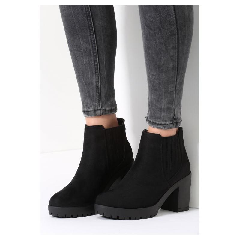 Predchádzajúci. Elegantné dámske topánky na zimu čiernej farby ... e6da527d812