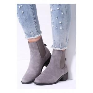 Sivé dámske topánky na opätku