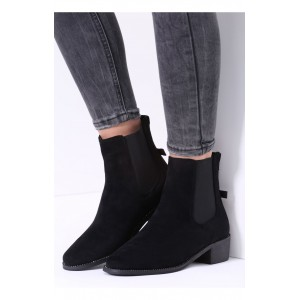 Dámske prechodné topánky čiernej farby
