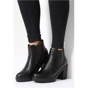 Čierne dámske lakované topánky na zimu