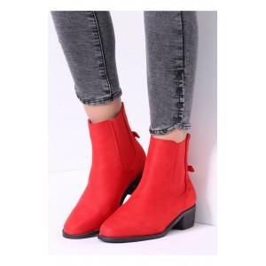 Červené dámske elegantné topánky
