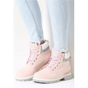 Ružové členkové worker topánky pre dámy