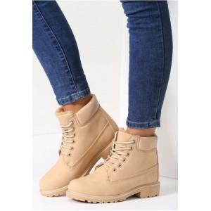 Béžové zateplené worker topánky pre dámy