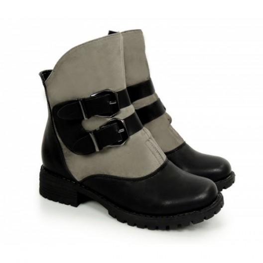 Elegantné zimné topánky sivej farby