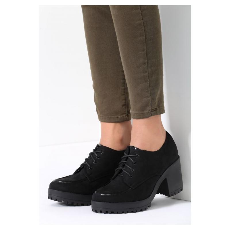 3d1d97fe03368 Čierne dámske jesenné topánky na platforme - fashionday.eu