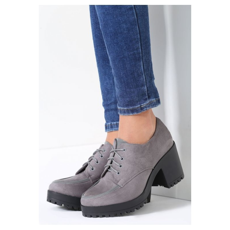 0d335f897c96b Dámske jesenné topánky na platforme tmavo sivé - fashionday.eu