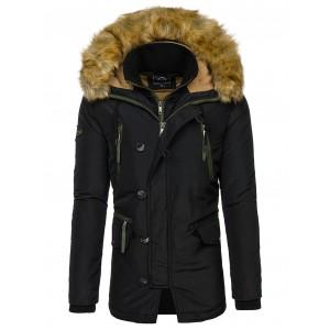 Čierna pánska zimná bunda