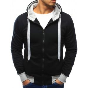 Čierna pánska mikina na zips