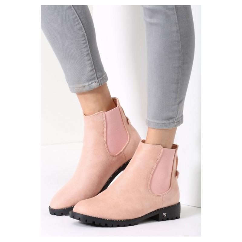 d26da0eecc Dámske zimné členkové topánky ružovej farby - fashionday.eu