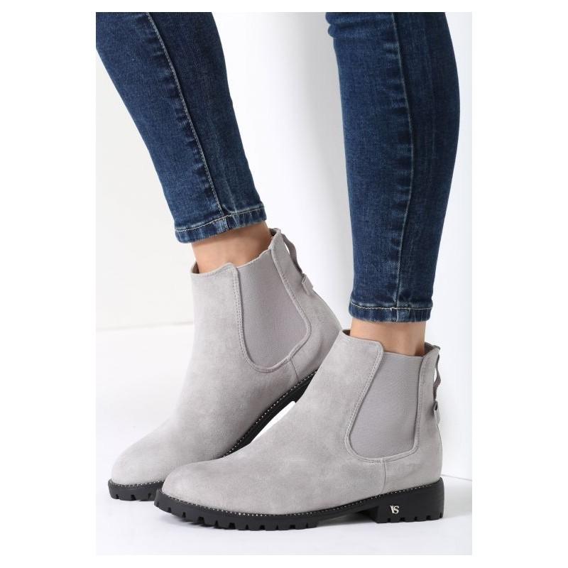 820526263d Dámska členková zimná obuv svetlo sivej farby - fashionday.eu