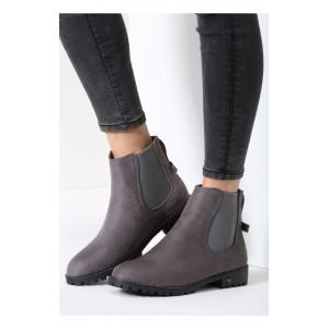 Tmavo sivé dámske topánky na zimu