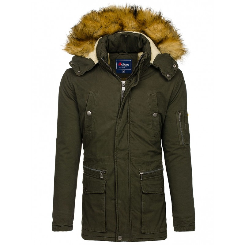 Zelená pánska bunda na zimu - fashionday.eu 7931312e355