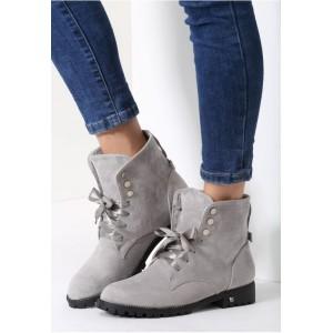Sivé dámske topánky s mašličkou