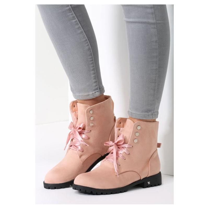 fac328a7cc Predchádzajúci. Štýlové dámske kotníkové topánky v ružovej farbe ...