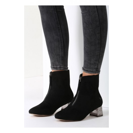 Elegantná dámska obuv v čiernej farbe