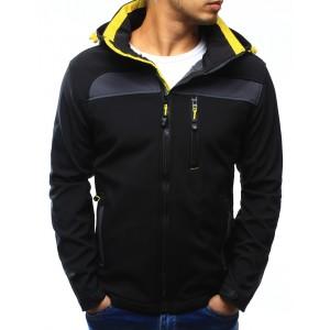Pánska prechodná bunda na zips v čiernej farbe