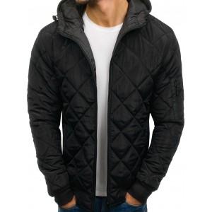 Čierna pánska jesenná bunda