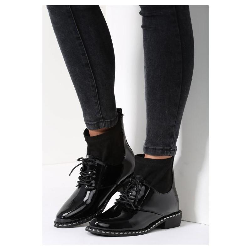 05553ffc0a0 Predchádzajúci. Dámska členková obuv čiernej farby ...