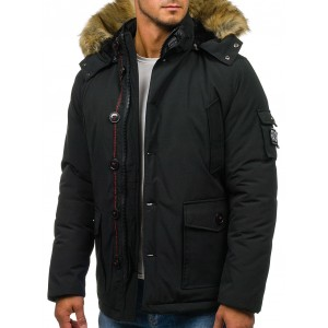 Čierna zimná bunda pre pánov