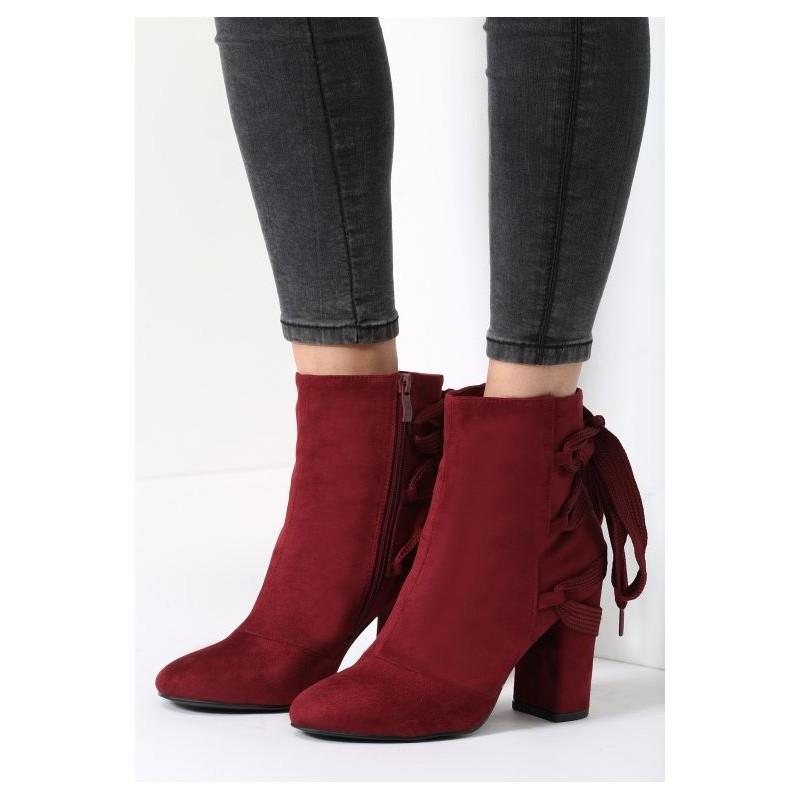 21c425f2386da Predchádzajúci. Zimné dámske členkové topánky bordovej farby ...