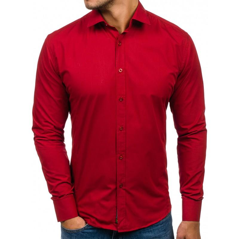 Predchádzajúci. Moderná pánska košeľa červenej farby ... 26c27f9f9cb