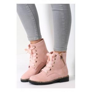 Ružové dámske workery na zips