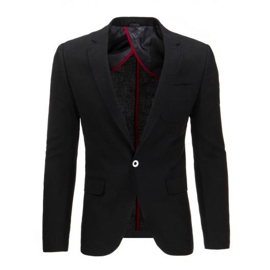 Elegantné pánske čierne sako so zapínaním