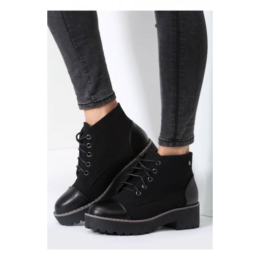 Čierna dámska členková obuv