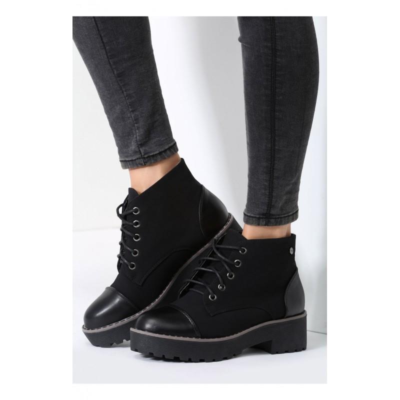 Čierna dámska členková obuv - fashionday.eu 06db94690c5
