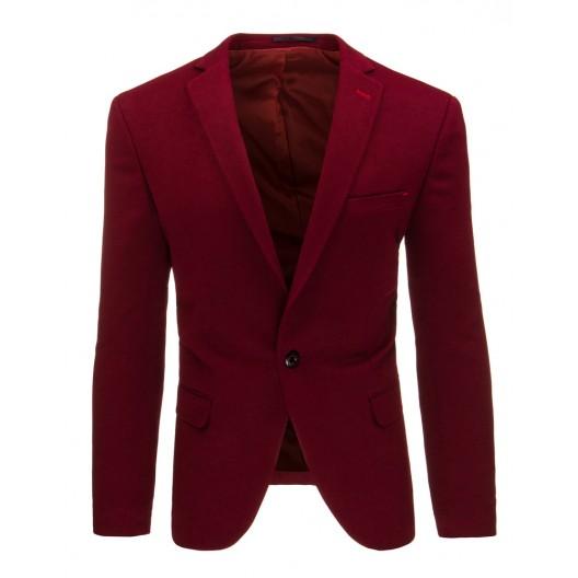 Pánske elegantné sako bordovej farby