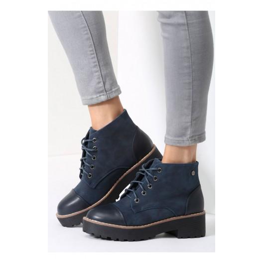 Tmavo modré kotníkové topánky pre dámy