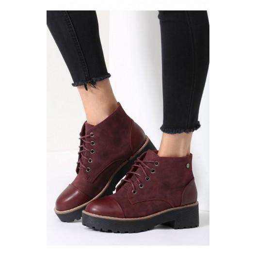Moderné dámske topánky v bordovej farbe