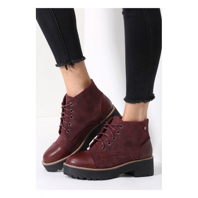 Moderné dámske topánky v bordovej farbe - fashionday.eu 0664d7eda90