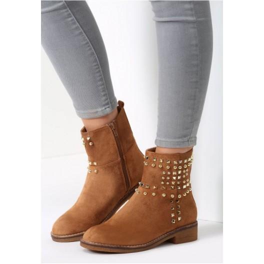 Svetlo hnedé dámske členkové topánky