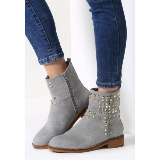 Dámska členková obuv sivej farby