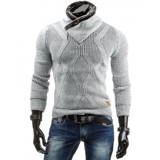 Sivé pánske svetre so zipsom