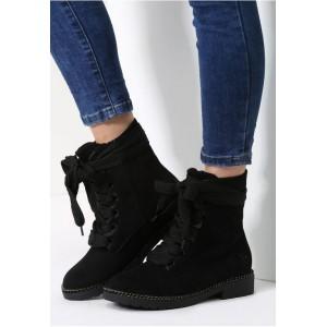 Dámske členkové topánky čiernej farby