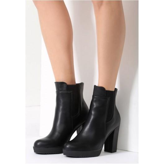 Dámske zimné topánky na hrubom podpätku