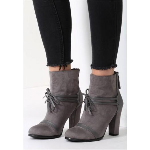 Svetlo sivé dámske členkové topánky