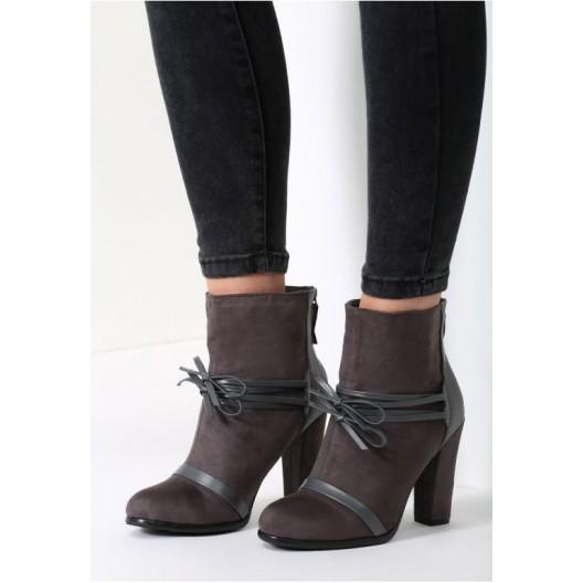 Tmavo sivé dámske topánky na vysokom opätku