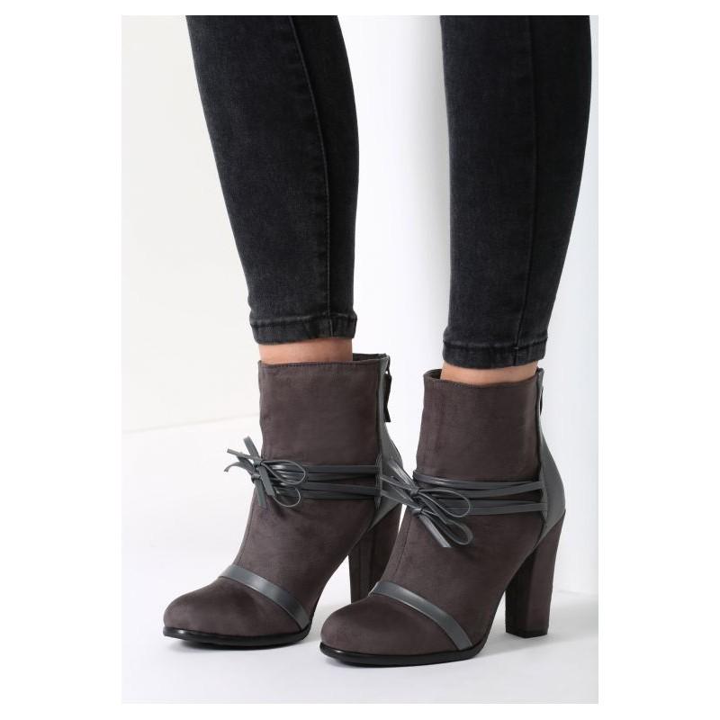 5a165c6301 Predchádzajúci. Tmavo sivé dámske topánky na vysokom opätku ...