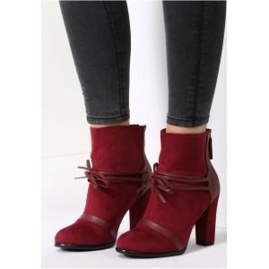 Bordové dámske topánky s vysokým opätkom
