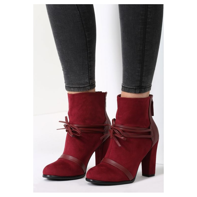 6d6a4c5bd4 Predchádzajúci. Bordové dámske topánky s vysokým opätkom ...
