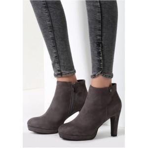 Sivé dámske topánky na zimu